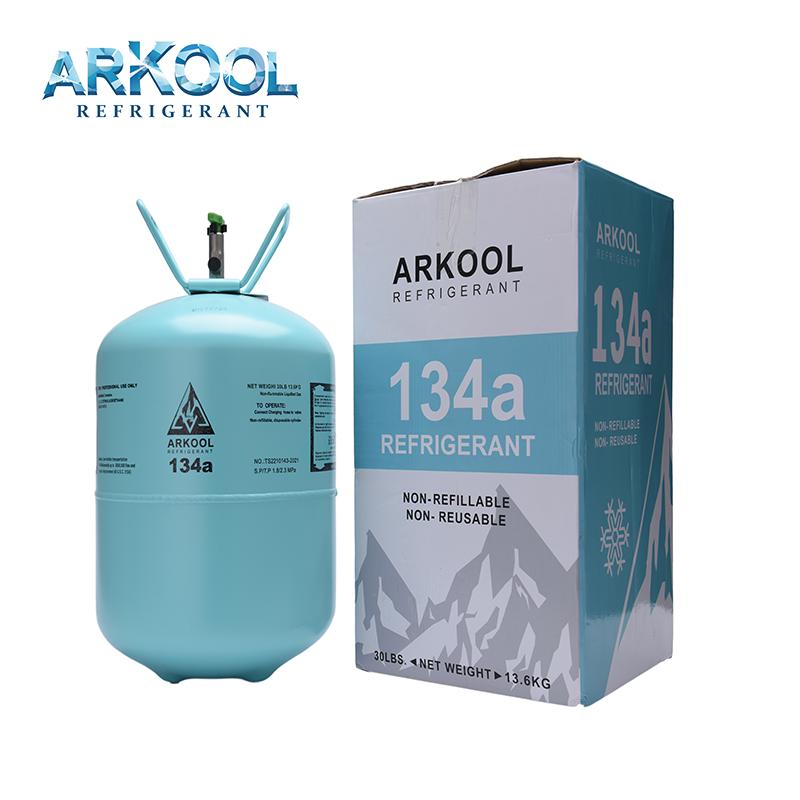 13.6kg 30lb 134a refrigerant gas with 99.99% high purity gaz