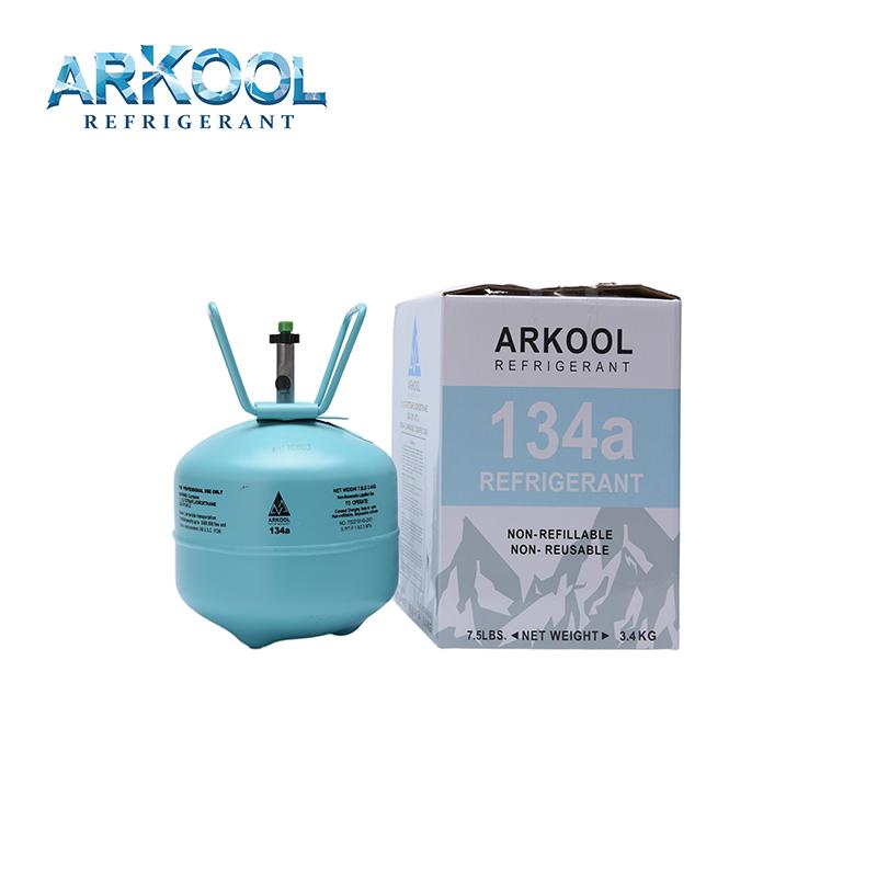 Refrigerant gas R134A cylinder 300g,340g,450g,500g,800g can,11.3kg cylinder