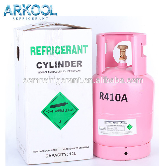 Refillable CE cylinder r410a refrigerant gas high quality