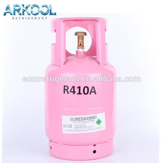New refrigerant gas CE refillable cylinder r410a r410 r134a r404a r407c hot sale