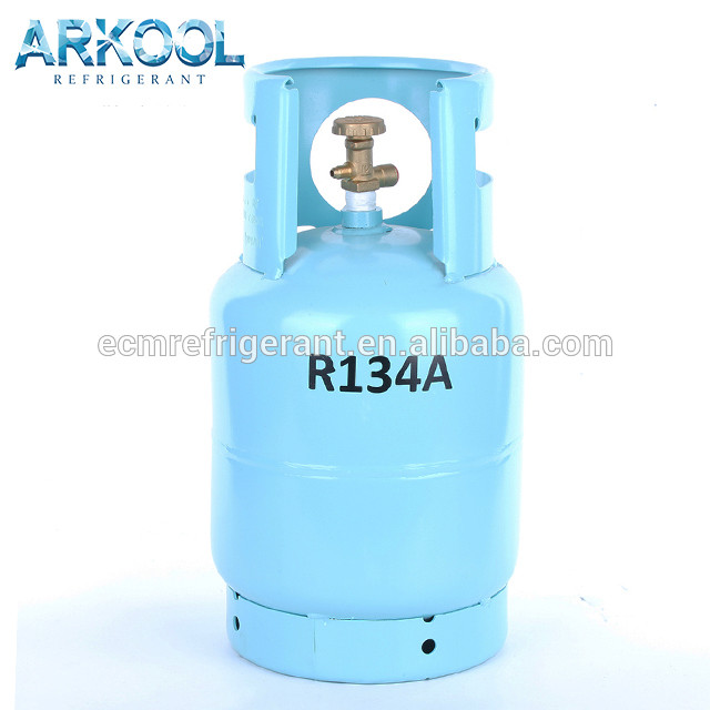 Refillable cylinder r 134 a 12kg refrigerant gas single valve/double valve for EU country