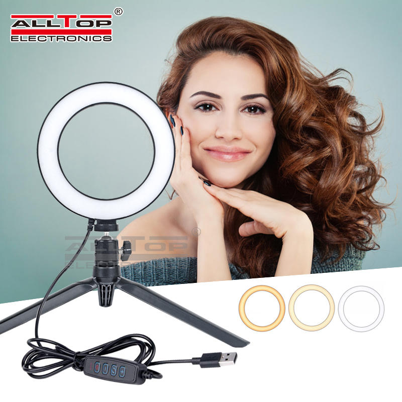 New design 6 Inch Live broadcast Live Artifact white Dimmable Table led ring lamp