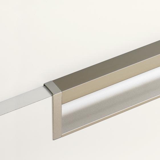 Modern aluminium edge pull cabinet edge