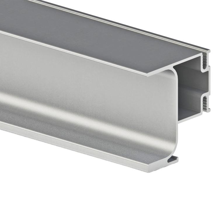 Extruded brushed aluminum profile cabinet pull handles
