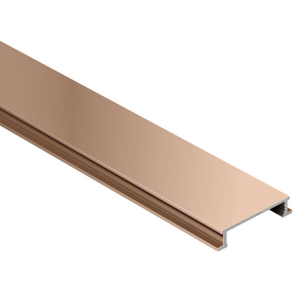 Anodized satin finish aluminium wall edge trim