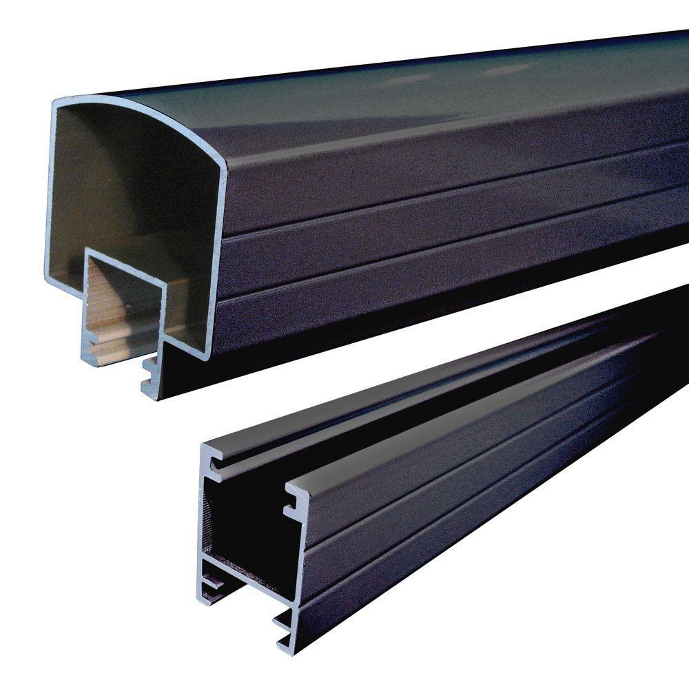 Black powder coated aluminium extrusion profile for aluminium handrail