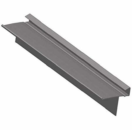 Matt anodised aluminium square edge tile trim