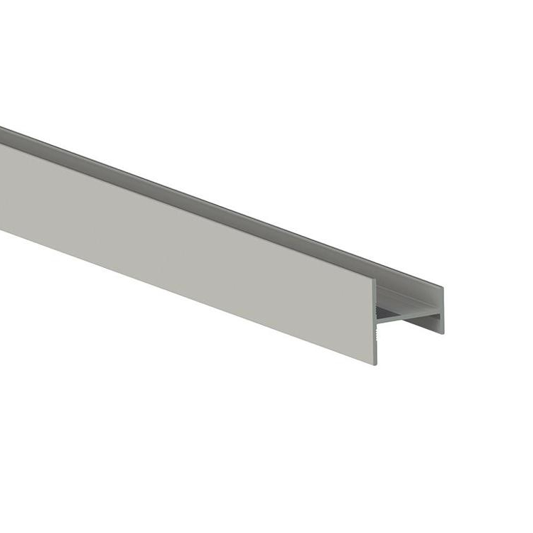Anodized extruded aluminum track for hanging rail