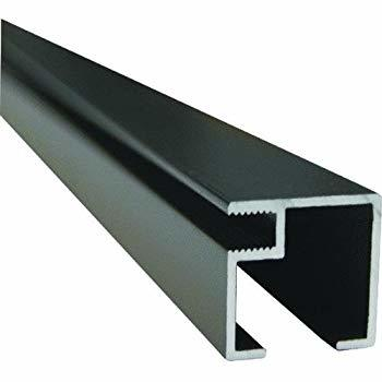 8 ft. x 2 in. x 2 in. Bronze Screen Room Aluminum Extrusion with Spline Track Extrusion Profile
