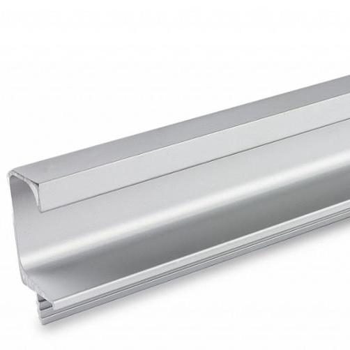 Aluminum wardrobe oval tube hanging rail profile