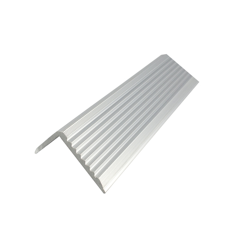 Silver White Aluminium Section Stair Nosing Extrusion Profile
