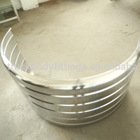 Quality--assured Stainless steel trailer mudguard for heavy truck 112008