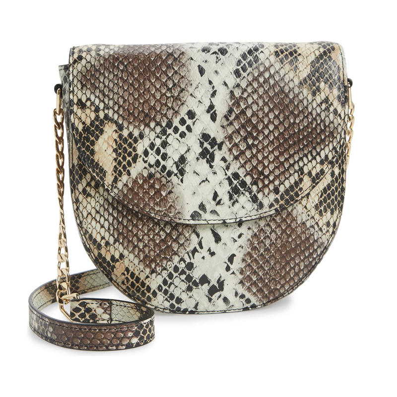 Snakeskin Chain Diamond Decoration Pu Women Daily Casual Handbag Doctor Bag Crossbody Bag Female Bolsa Handbag Shoulder Bag