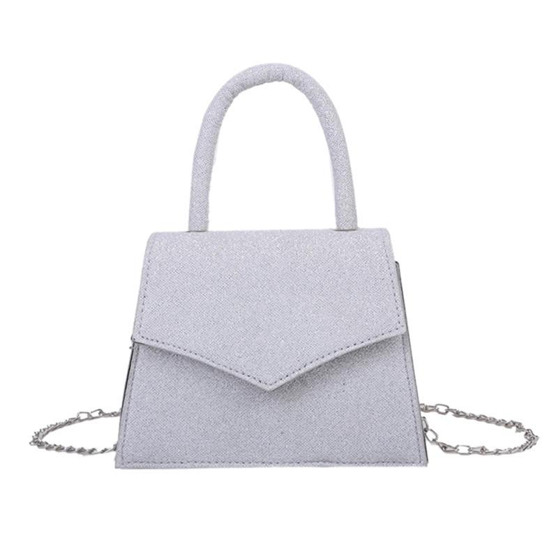 New Fashion latest Women Shoulder Messenger Bags PU Top-handle Wallet Purse Glitter Ladies Chain Elegant Cross body Shoulder Bag