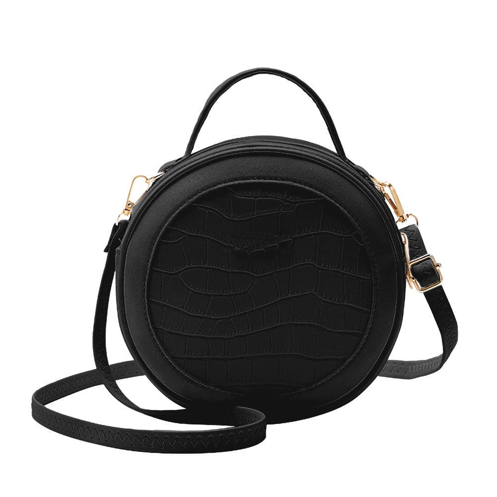 Hot sell Fashion Exquisite Shopping Bag Retro Women Alligator PU Crossbody Bag Female Small Round Purse Shoulder Handbag