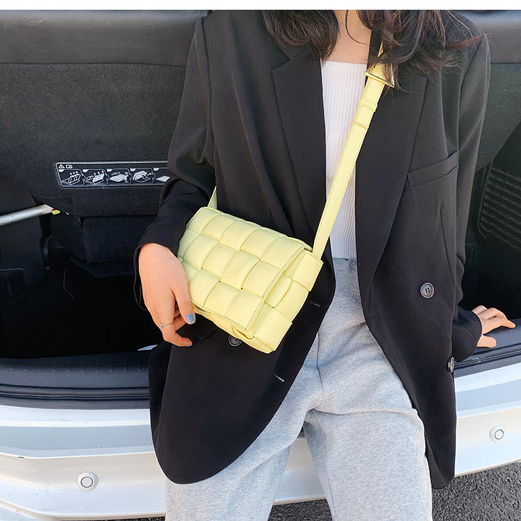 Weave Flap Bags Square Cross-body Bag 2020 New High Quality Leather Women's Designer Handbag Travel Shoulder Messenger Bag