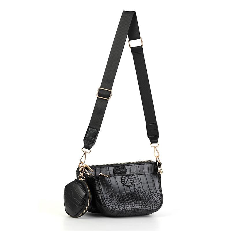 alligator pattern Solid color soft leather chain women shoulder bag 2020 women shoulder crossbody bag Handbags and purse