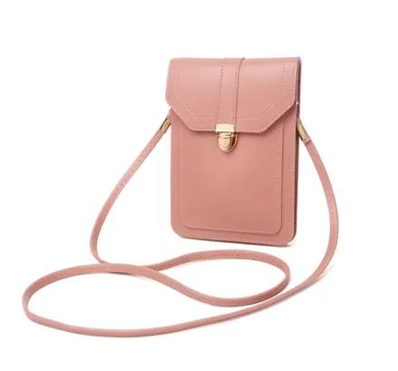 Touchable PU Leather Change Shoulder Bag Mobile Phone Bag Case Fashion Woman Mini Bag Ladies Mobile Phone Handbag