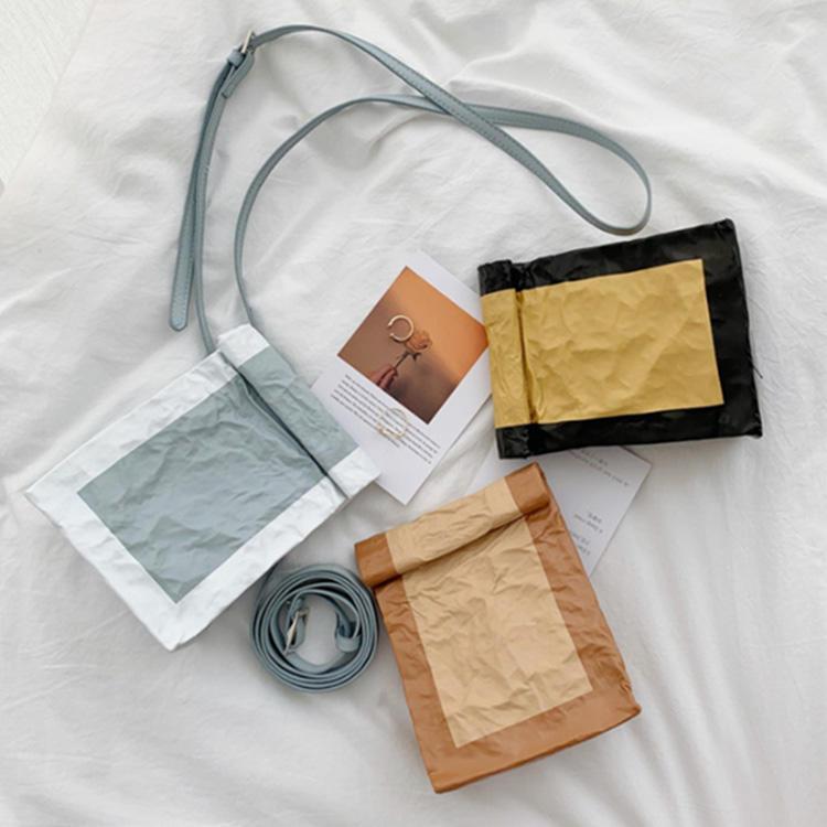 china lightweight durable modern fashion kraft paper shoulder bag girl