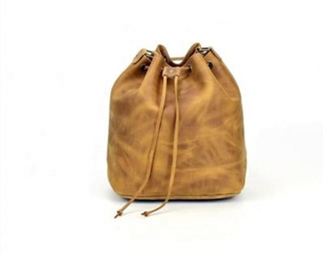 New Style PU Solid Color Ladies cylinder Handbags fashion single Shoulder Crossbody Messenger Bag Drawstring bucket bag women