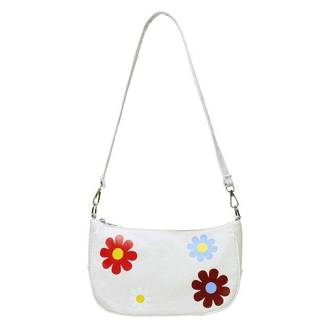 fashion cute Canvas PU girls Crossbody Shoulder Bags Women Flower Splicing ladies Small Messenger shopping Pouch satchel bags