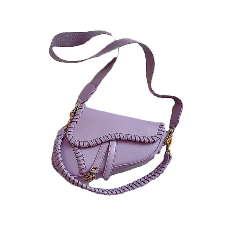 High Quality new arrival PU Leather Saddle bag Double Belt Shoulder Bags Fashion 2020 Summer Cross body Bag Solid Handbags