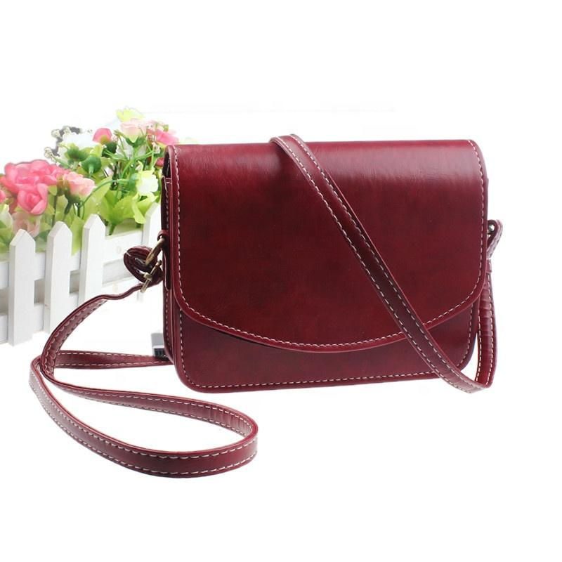 Stabile Lady Pu leather shoulder crossbody Bag fashion designer brand girl messenger bags for women vintage Solid color bags