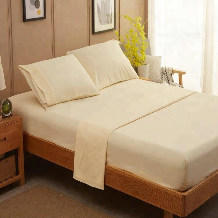 100% cotton fabric queen size sheet sets for bed producer