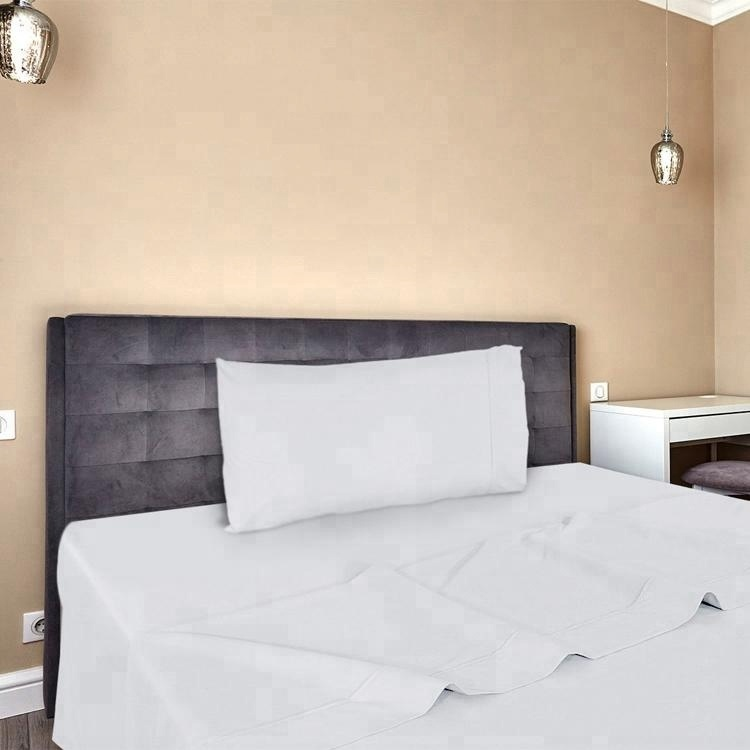 custom made white double sided bed sheets for hotels and hospitals