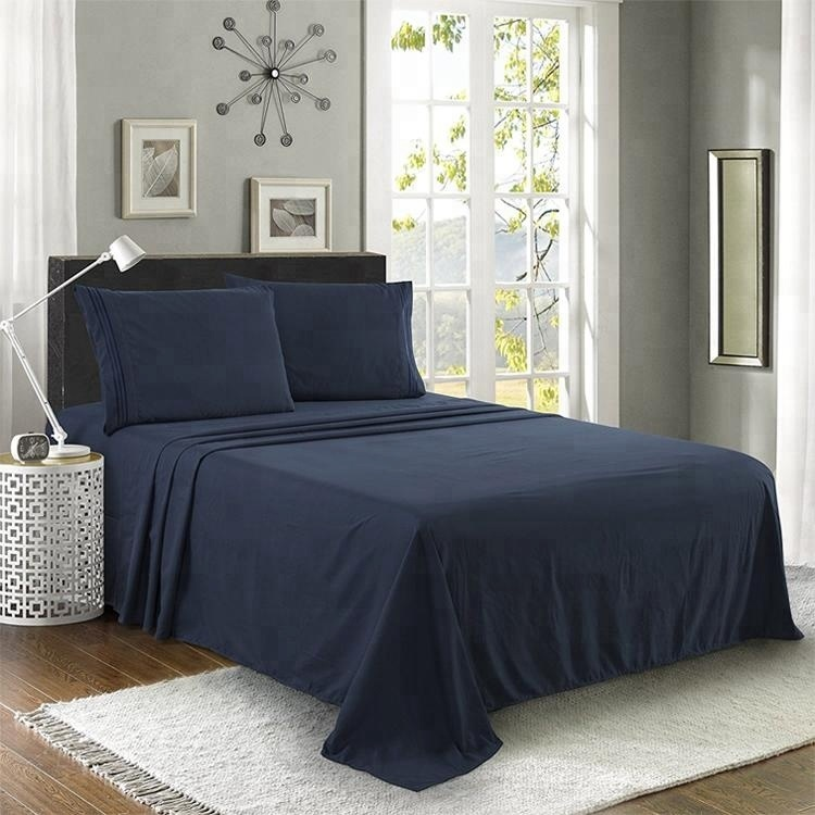 Copper infused cotton bamboo bed sheets for home hotel