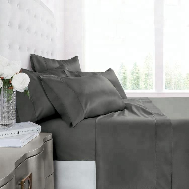 luxury white copper bamboo comforter hotel bedroom bed bedsheet sheets set pillow case