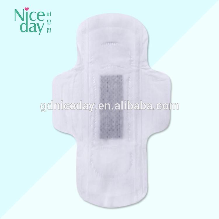 Wholesale Brand Name Women Cotton Biodegradable Sanitary Napkin Black Sanitary Towel
