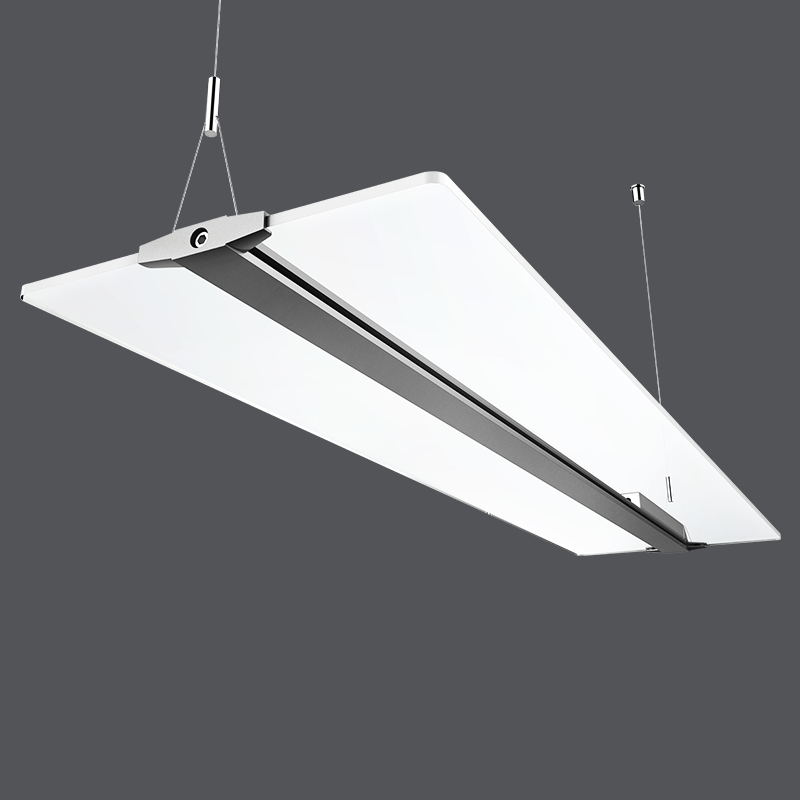 48w panel light Modern simple acrylic LED chandelier square transparent office light Nordic Living Room Meeting Room Light