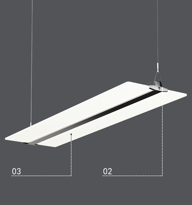 original led factory for office and projects Clear panel light cct adjustable 48w up and down light