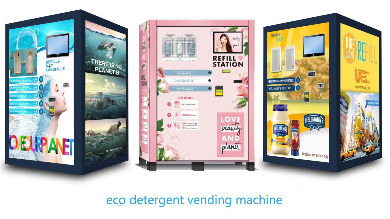 Household detergent vending machine