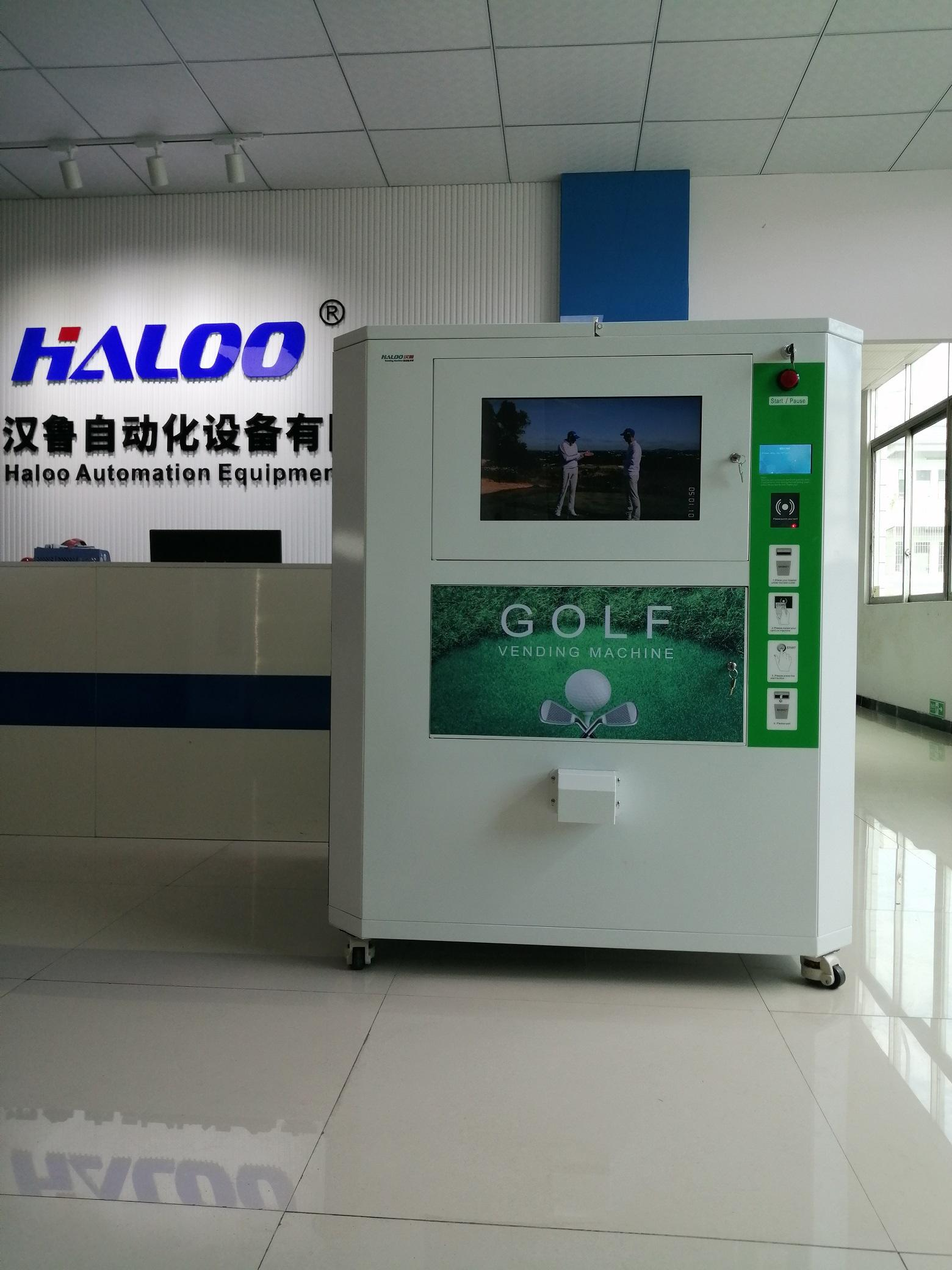 Commercial golf ball dispenser for golf driving range