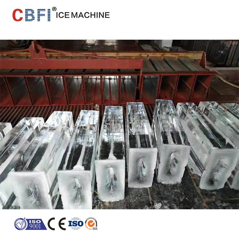 5 tons industrial automatic block ice making machines produce ice for drinks