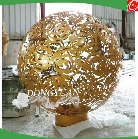 900mm openwork stainless steel ball sphere sculpture