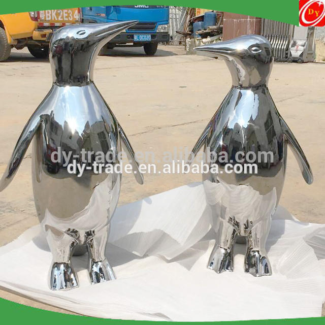 Mirror Polished Life Size Stainless Steel Animal Art Crafts for Sale