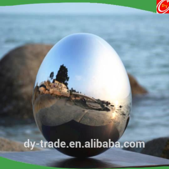 FfiberglassEgg balls, Shiny Decorative Stainless SteelSculpture for Metal Artworks