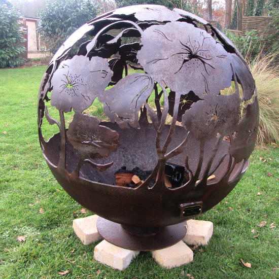 Decorative Outdoor weathering resistant steel Plasma Cutting Handcrafted Custom Firepits