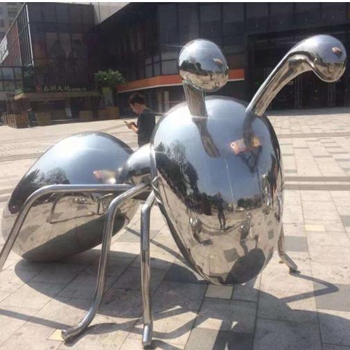 Stainless steel ants sculpture/metal animal sculpture