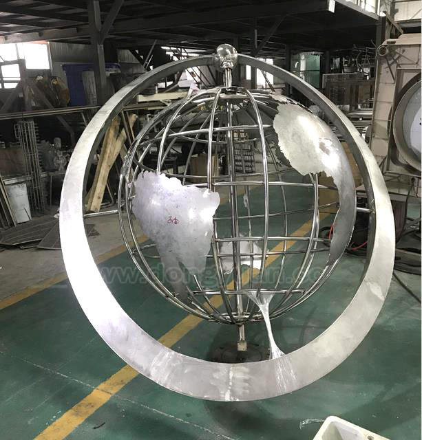 1000mm Stainless Steel World Globe with Map