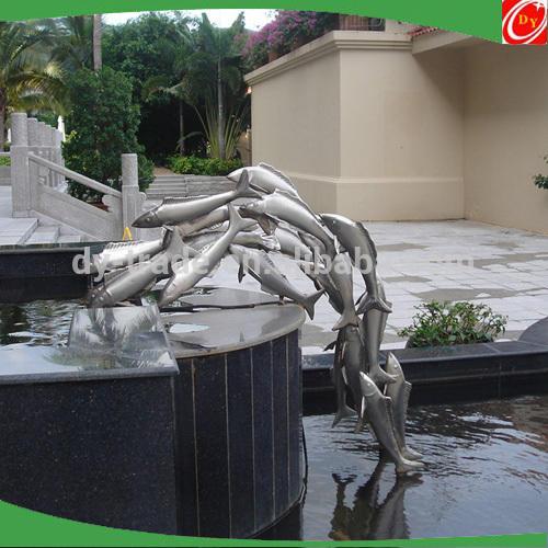 Metal Stainless Steel Fish Sculpture