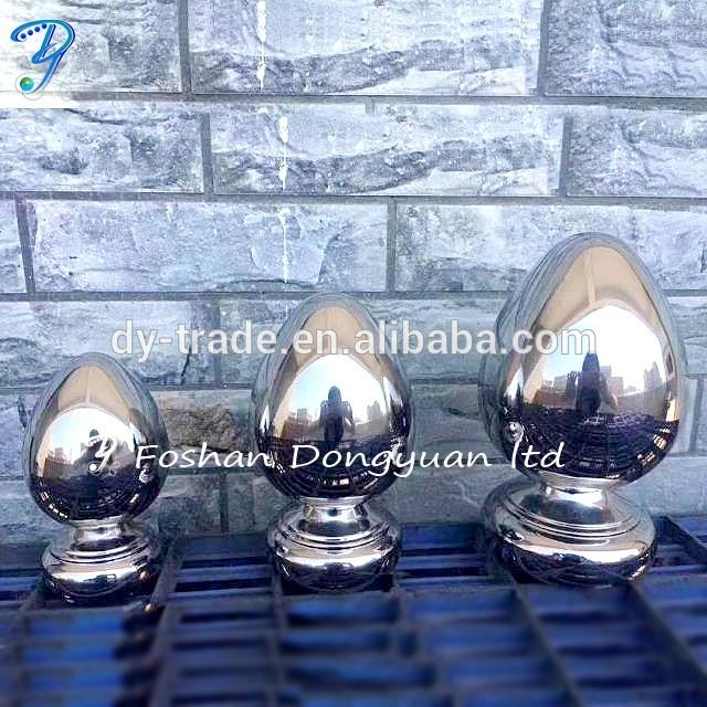 Stainless Steel Color Egg , Shiny Decorative Egg Sculpture for Metal Works of Art