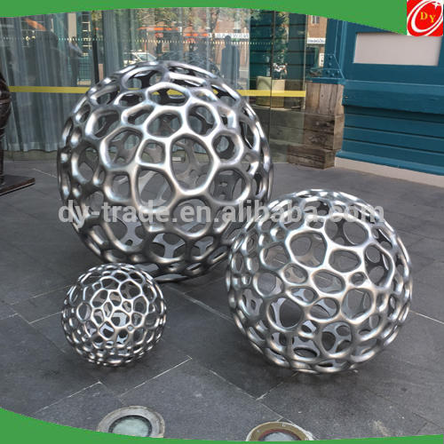 Hollow Stainless Steel Iron Sphere Sculpture
