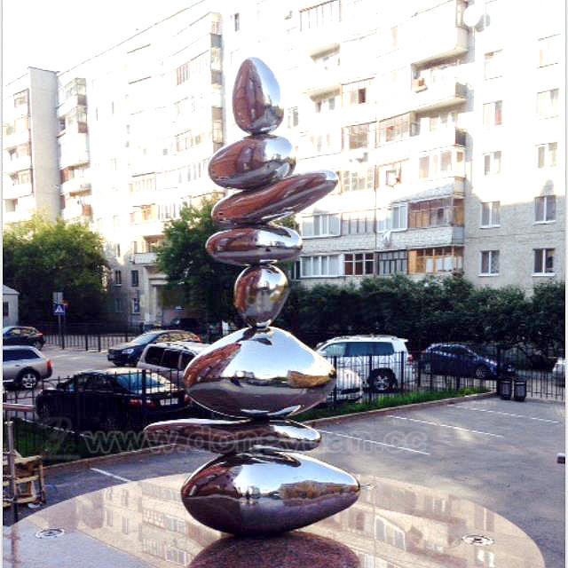 Stainless SteelOval Sphere for Outdoor Decoration