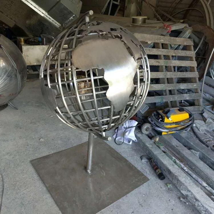 world map sphere/sculpture