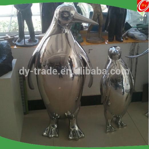Customized stainless steel penguin sculpture /metal craft ,animal sculpture