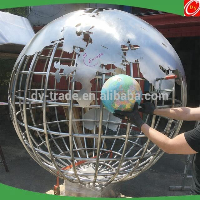 2000m Public Decoration Brushed Stainless Steel Ball Sculpture